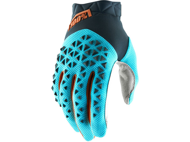 100% Airmatic Gloves steel grey/ice blue/bronze